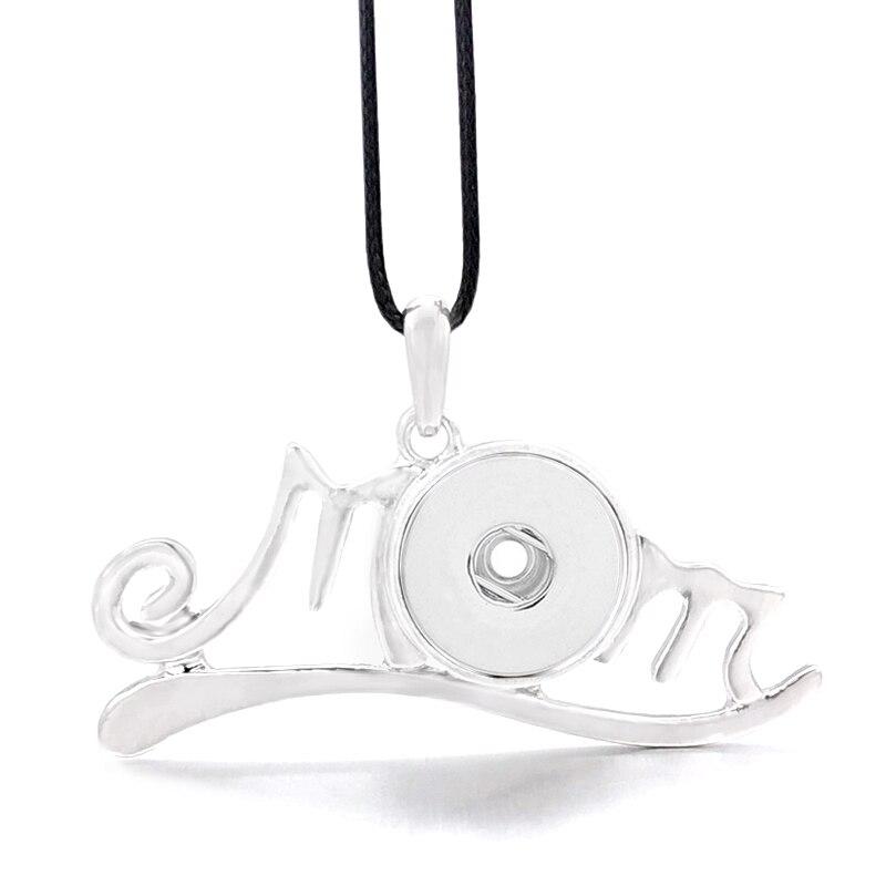 Collier chaud Interchangeable fleur maman gingembre 056 Fit 12mm 18mm bouton pression pendentif breloque collier bijoux pour femmes cadeau