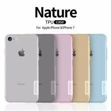 Capa para iphone 8 nillkin ultra fino transparente natureza tpu caso para apple iphone 8 7plus 8plus mais claro macio voltar capa