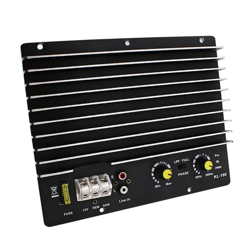 AMPLIFICADOR DE POTENCIA DE Audio para coche de 1200W, placa amplificadora de potencia para Subwoofer, placa amplificadora de Audio Diy, Kl-180 para reproductor de coche