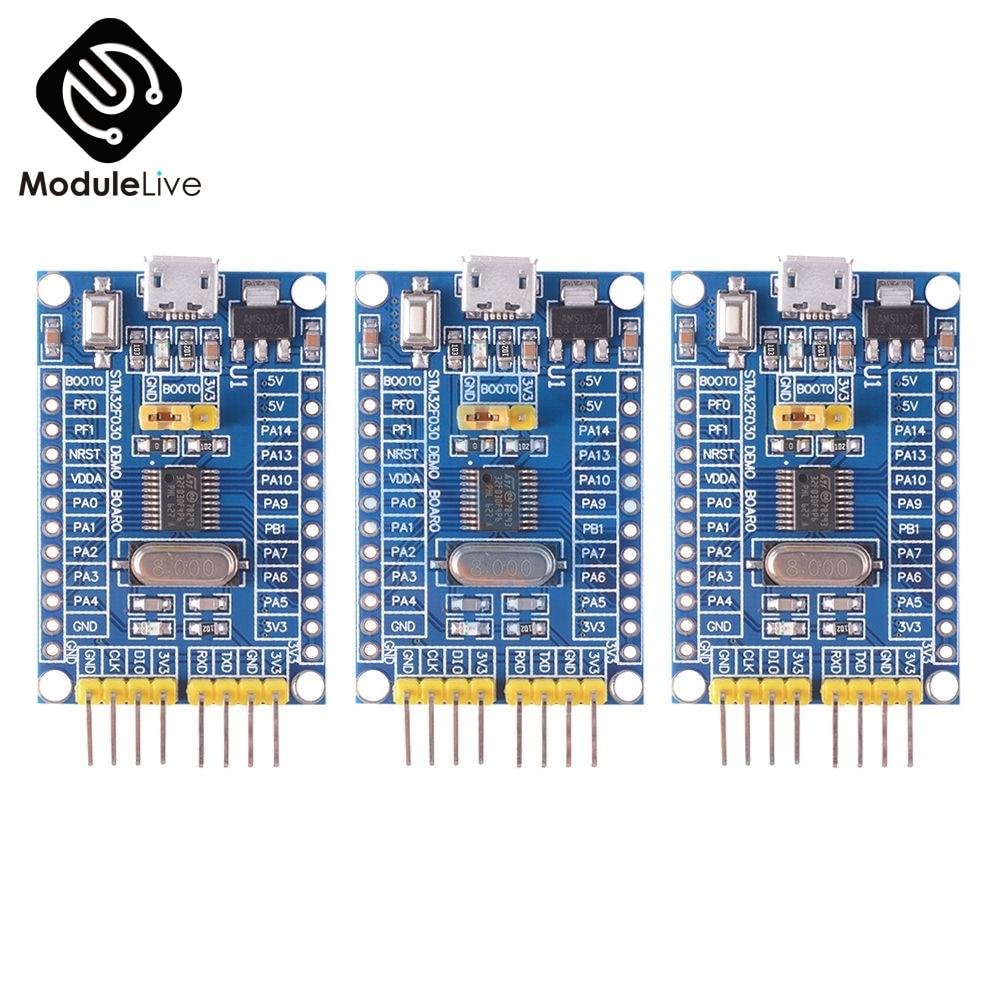 Stm32f030f4p6 arm CORTEX-M0 núcleo 32bit 48 mhz placa mínimo sistema de desenvolvimento microcontrolador swd/isp dupla download kits diy