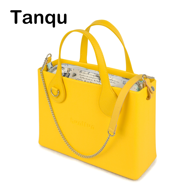 Tanqu O حقيبة نمط huntfun المطاط صندوق مربع السيليكون مع D مشبك مقبض Crossbody سلسلة إدراج المرأة حقيبة يد حقيبة كتف