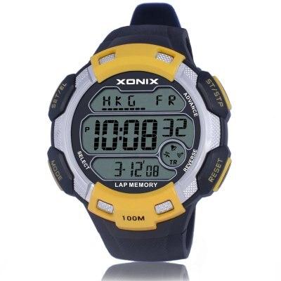 Reloj digital con esfera grande de 100 M, reloj despertador a prueba de agua por hora, varias zonas horarias, reloj deportivo al aire libre para hombre CQ