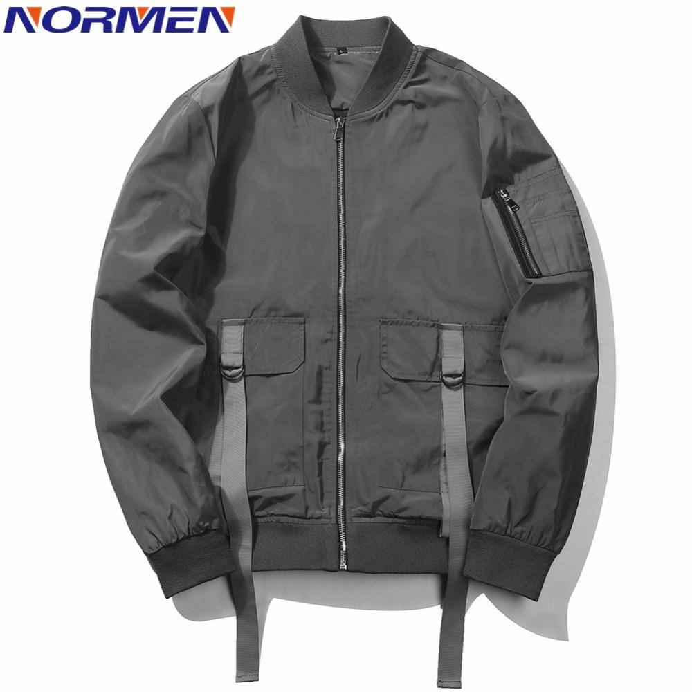 NORMEN Men's Classic Bomber Jacket 2018 New Spring Retro Casual Tops Fashion Streetwear chaquetas hombre Thin Jackets Men