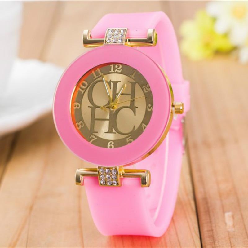 High Quality Fashion Rhinestone Women Watches 2019 Luxury Brand Silicone Strap Women quartz Watch Dr