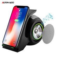 Cargador inalámbrico Bluetooth 10W para iPhone X, XR, XS, MAX, Samsung S9, S10 Plus, Huawei, P30 Pro, base de carga inalámbrica
