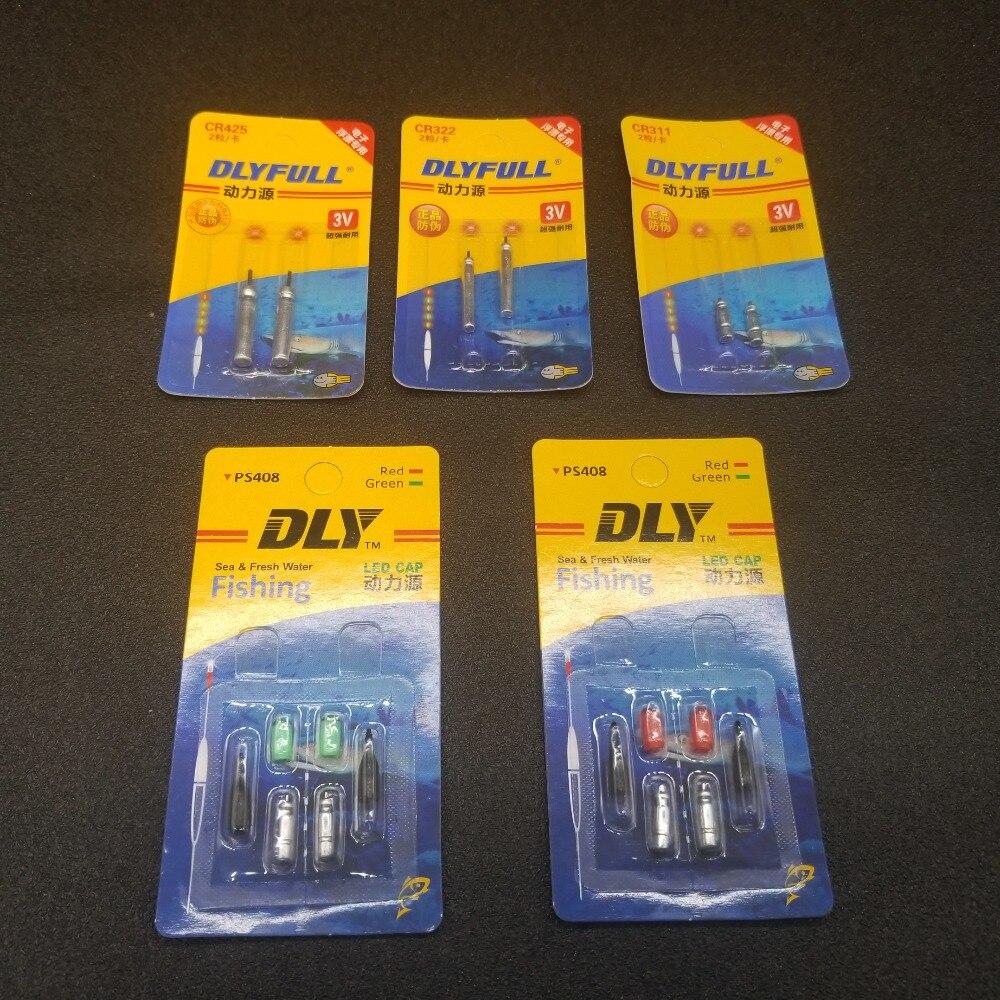 2 unids/pack flotador de pesca electrónico batería CR311 CR322 CR425 PS408 de litio Pin células LED pesca de aparejos de pesca flotante A52