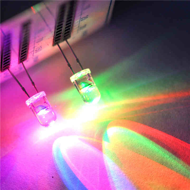 Diodos emisores de luz LED 5MM redondo colorido destello lento flash alternancia (50 uds)