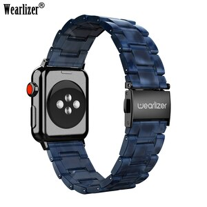 Wearlizer Stainless Steel Band for Apple Watch Bands 42mm iWatch Straps Replacement Rhinestone Womens Band for iwatch 5 4 3 2 1