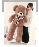 stuffed plush toy large 130cm cute brown teddy bearbowtie bear soft doll hugging pillow christmas gift s2431