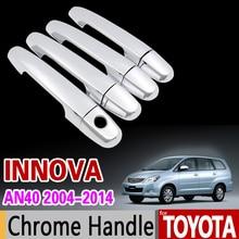 Для Toyota Innova 2004-2014 хромированный набор для отделки ручки AN40 2006 2008 2010 2012 2013 Автомобильные аксессуары наклейки для стайлинга автомобиля