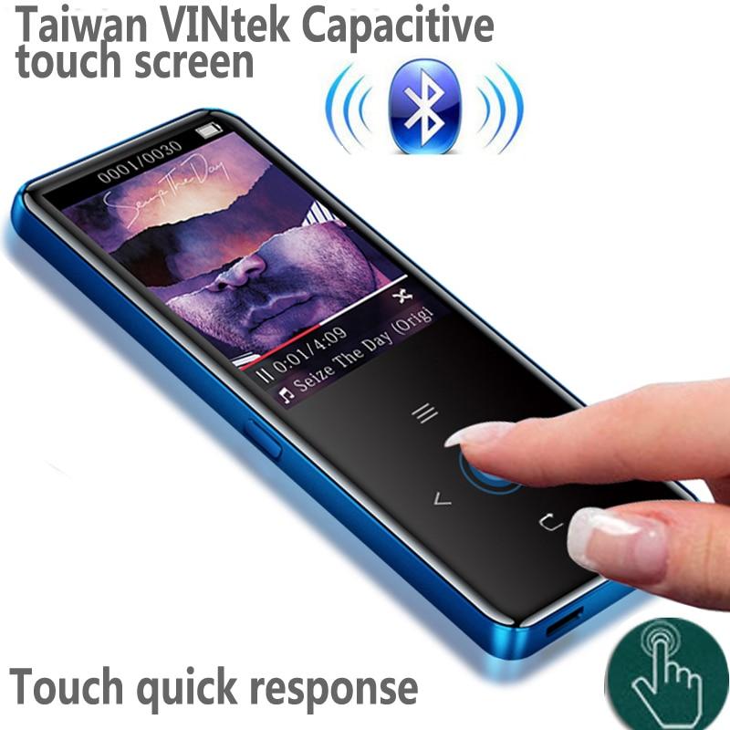 ¡Novedad de 2020! Pantalla táctil Bluetooth mp3-speler, BENJIE A20 Ultra dunne 8GB Muziekspeler 1,8 pulgadas Kleurenscherm sin pérdidas HiFi FM
