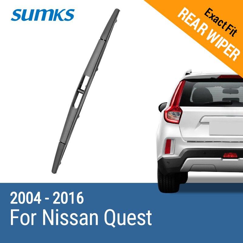 SUMKS limpiaparabrisas trasero para Nissan búsqueda 2004, 2005, 2006, 2007, 2008, 2009, 2010, 2011, 2012, 2013, 2014, 2015, 2016