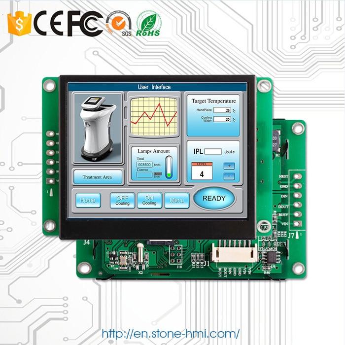 Piedra 3,5 pulgadas módulo TFT LCD pantalla táctil integrada con PCB + CPU + Priver + memoria Flash + UART