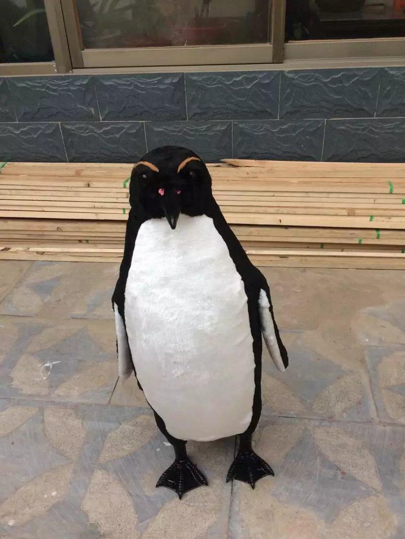Pingüino artificial plástico y pieles grande 75cm simulación pingüino artesanía etapa prop, hogar jardín decoración regalo a1489