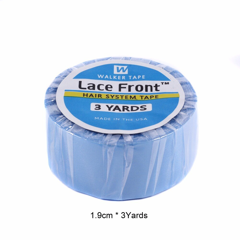 3 yards1.9cm de ancho súper cinta azul para tupé y peluca precinta extensiones de cabello