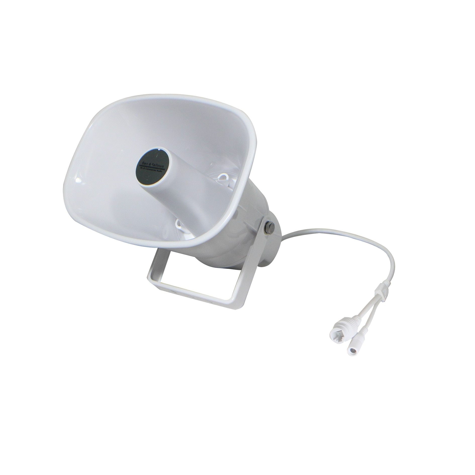 Ben & fellow-مكبر صوت بوق بيضاوي مقاوم للماء ، شبكة IP 511015 ، طاقة 30 وات ، داخلي أو خارجي