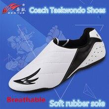 Semelles en caoutchouc souple respirant taekwondo chaussures pour hommes femmes Association internationale de Taekwondo désigné entraîneur chaussures de sport