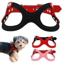 Didog Kleine Hond Harnas Zachte Sude Puppy Vest Voor Honden Chihuahua Yorkie Roze Rood Zwart Kleuren