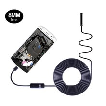 2in1 Android endoskop 8mm obiektyw HD720P 1m 1.5m 2m 3.5m 5m 10m miękka twardy kabel wodoodporna USB endoskopii samochodu kamera inspekcyjna