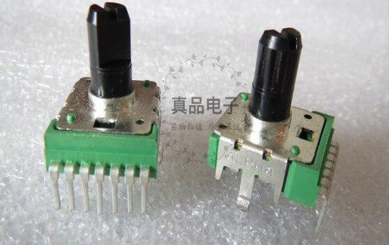 [VK] alfa Taiwán tipo 142 A100K doble 7 pies órgano electrónico volumen potenciómetro giratorio mango 13MM interruptor