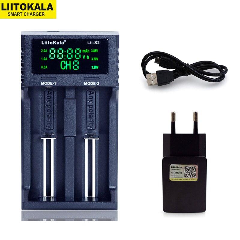 Nuevo cargador de batería Liitokala Lii-PD4 S4 S2 402 202 100 18650 1,2 V 3,7 V 3,2 V AA21700 NiMH li-ion cargador inteligente de batería + enchufe de 5V