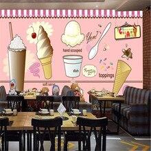 Papier peint crème glacée café salon de thé restaurant   Papier peint décoratif mural de production professionnelle