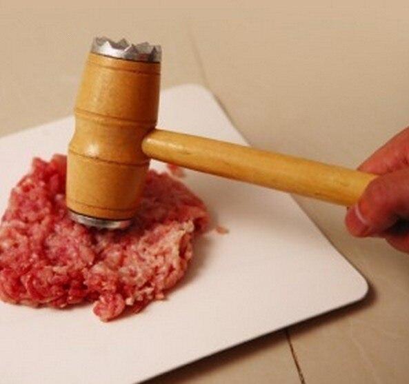 1 шт. деревянный металлический молоток для мяса тендеризатор стейк говядина, свинина, курятина молоток кухонный инструмент ок 0499