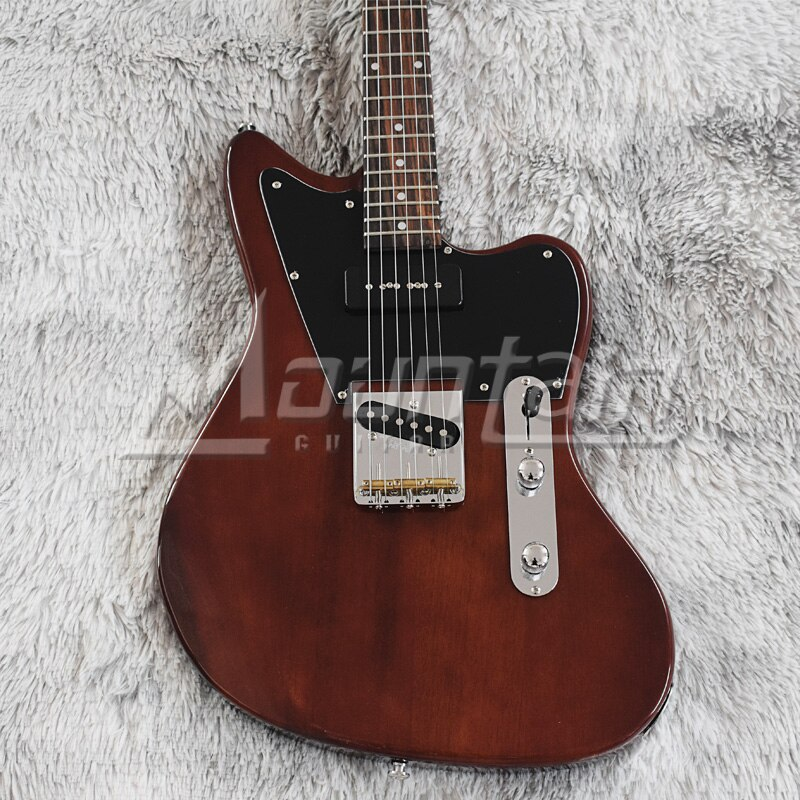 Mountain 6 string Jazz electric guitar mahogany wood rosewood fret free shipping