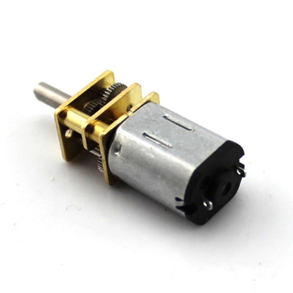 1Pcs 3V 6V 12V DC N20 Mini Micro Metall Getriebe Motor mit Zahnrad DC Motoren 15 30 50RPM 100 200RPM 300 500 100 0 RPM