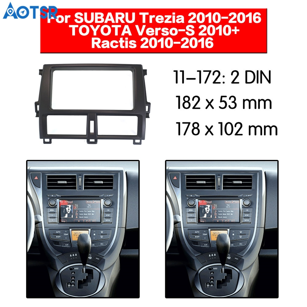 2din Radio Fascia for SUBARU Trezia for TOYOTA Verso Installation Dash Frame Adapter car DVD player ABS CD place mp3 radio frame