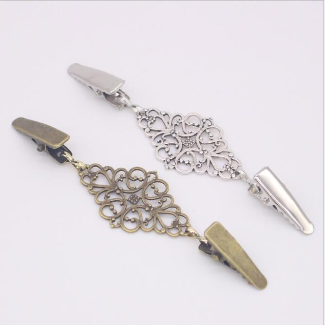 1 Uds., Rebeca de Jersey Retro, hebillas de Clip, hebilla de Metal, botones de Metal de moda para la decoración de ropa, ganchos para ropa