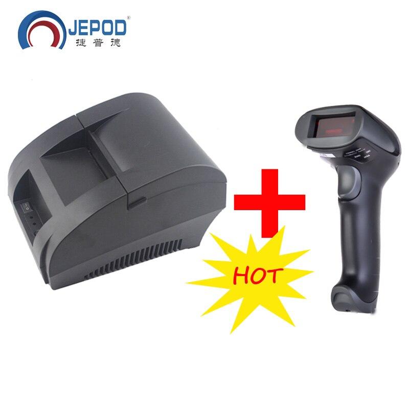 Impressora térmica preta 58mm da posição do usb da impressora 58mm do recibo 58mm para o sistema da posição JP-5890k 58mm