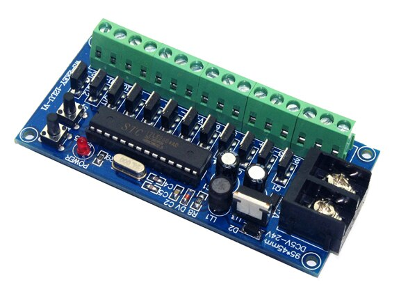 free shipping 1 pcs DC5V-24V 2KEY-12LU DMX512 each channel max 4A *12CH led controller Decoder for RGB led strip lights lamp