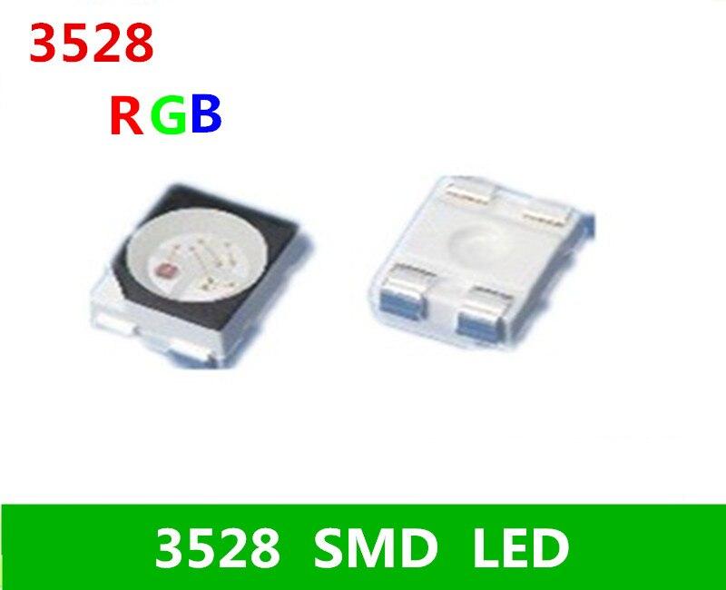 100 stücke SMD 3528 5050 RGB LED Gemeinsame Anode SMT Chip Tricolor (Rot Grün Blau) 1210 oberfläche Montieren PCB Licht Emittierende Diode L