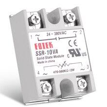 Régulateur de tension 40VA SSR   Module de décalage, régulateur de tension monophasé à état solide, boîtier de résistance entièrement isolé et de plastique
