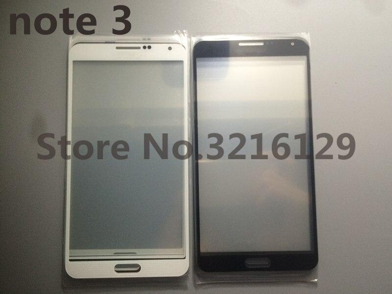 10 unids/lote reemplazo Nuevo LCD pantalla táctil frontal cristal lente exterior para Samsung Galaxy note 3 N900 N9005 Panel de pantalla táctil