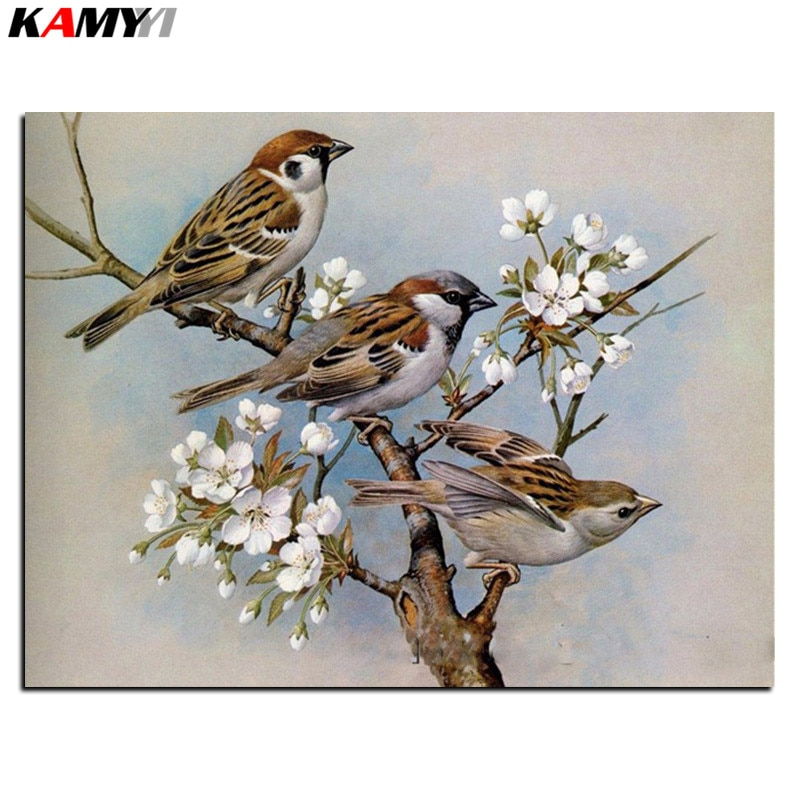 3d diy Алмазная мозаика картина Картина Стразы Вышивка с бриллиантами DMC камни декор птицы B618