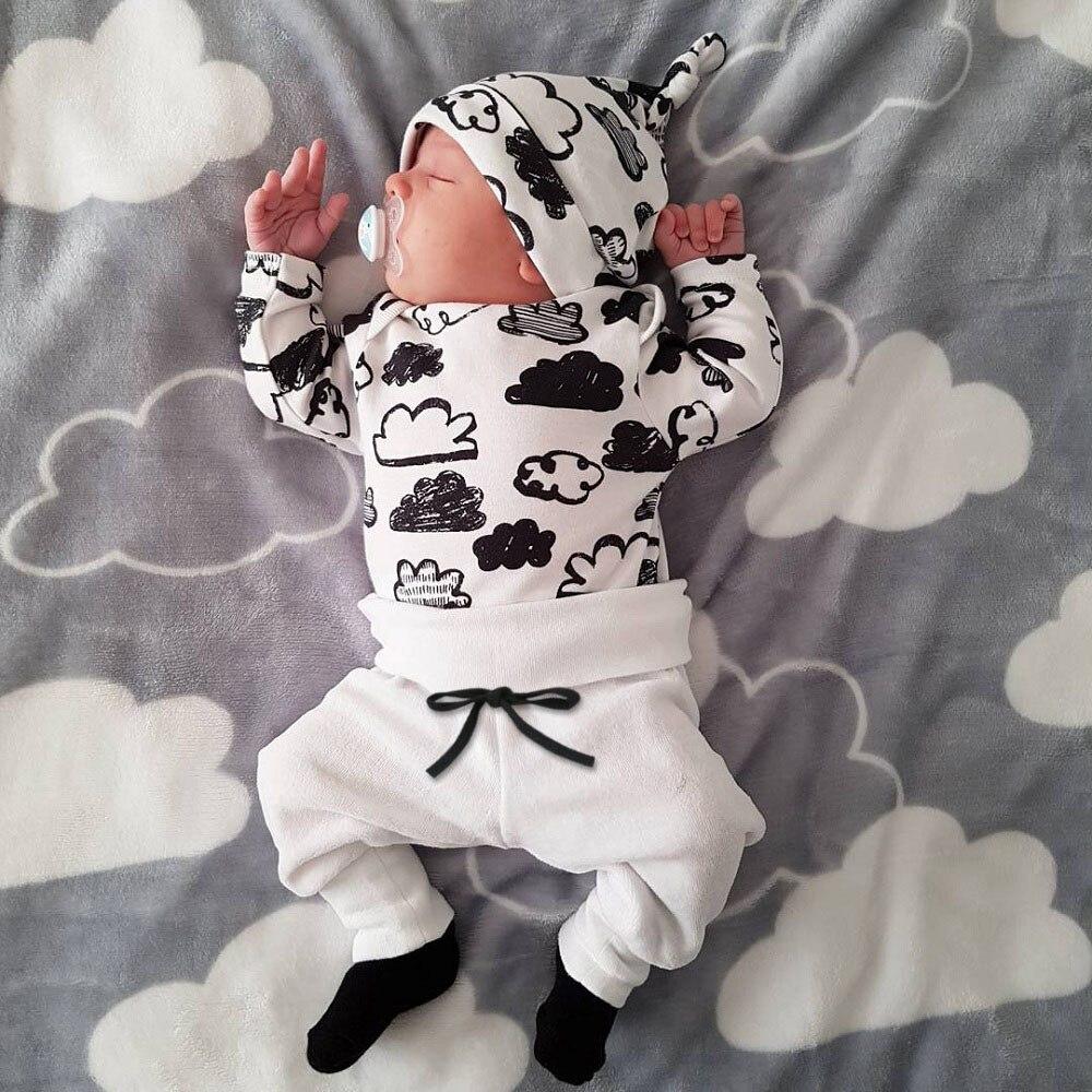 Infant kleidung vetement fille mädchen baby kleidung Cloud Print T Shirt Tops + Hosen baby junge erste geburtstag outfit Kleidung set mädchen