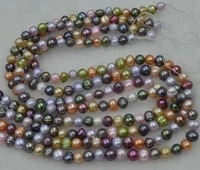 wholesale 10 strands 6 7mm genuine multicolor freshwater pearl strings