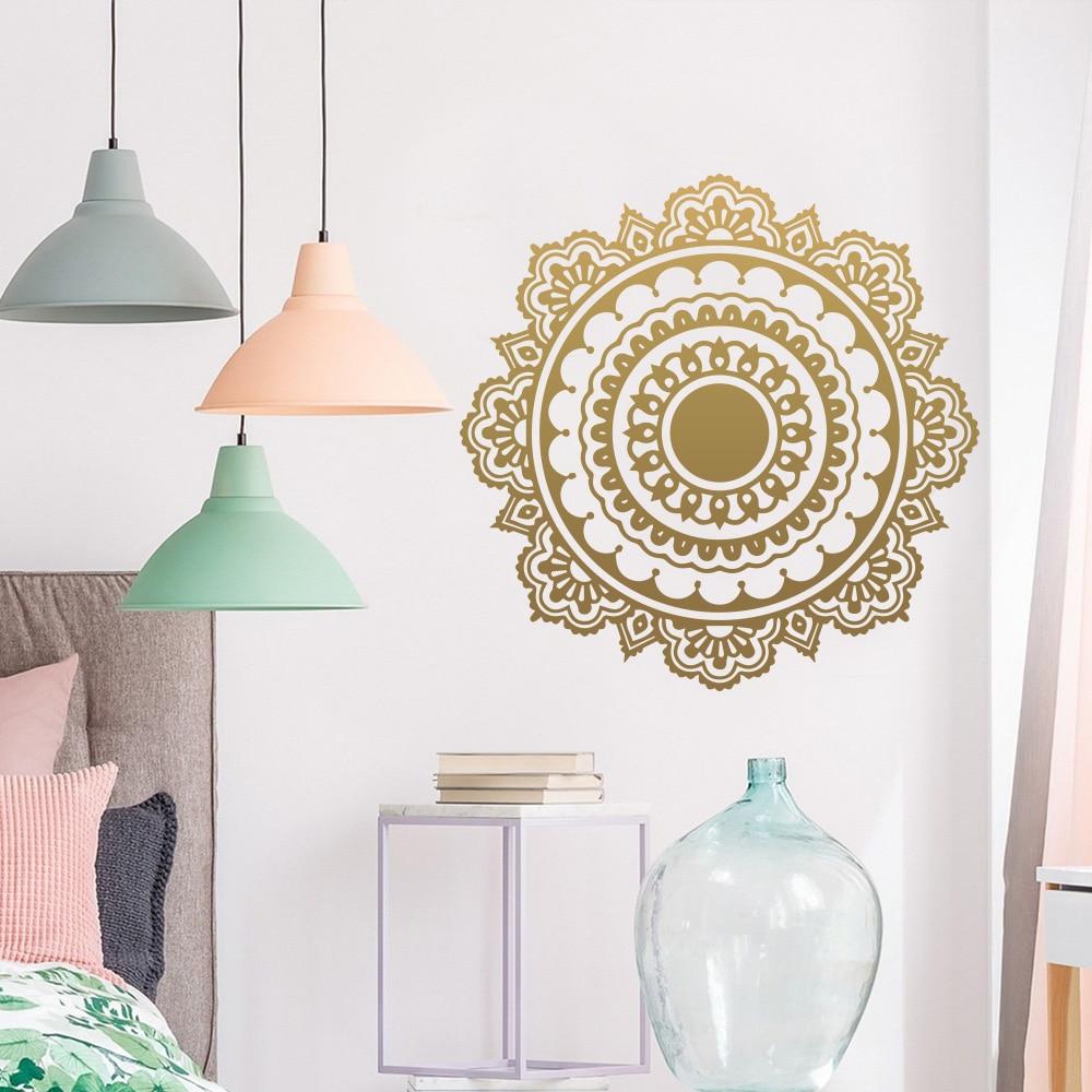 Exquisite Buddhism India Mandala Wall Sticker For Living Room Namaste Vinyl stickers Mural Mandala House Decor Wallpaper