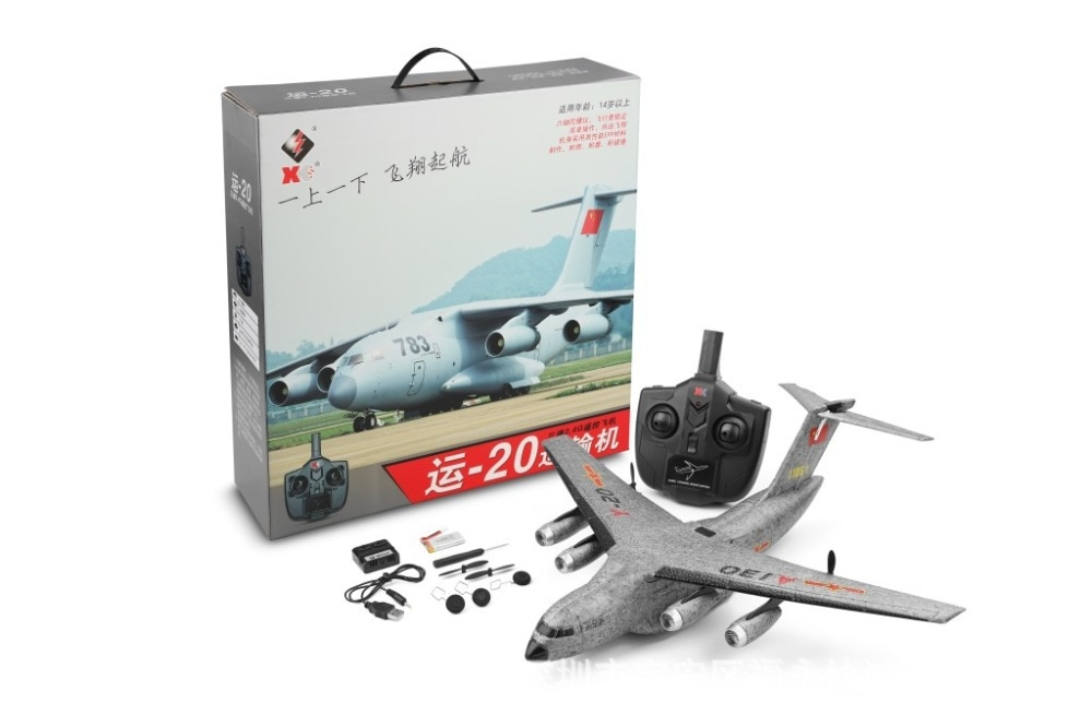 New RC Airplane Plane Y-20 Military Transport Aircraft 2.4G Flying Model with 50cm Wingspan Foam Plane Toys Kids birthday Gifts enlarge