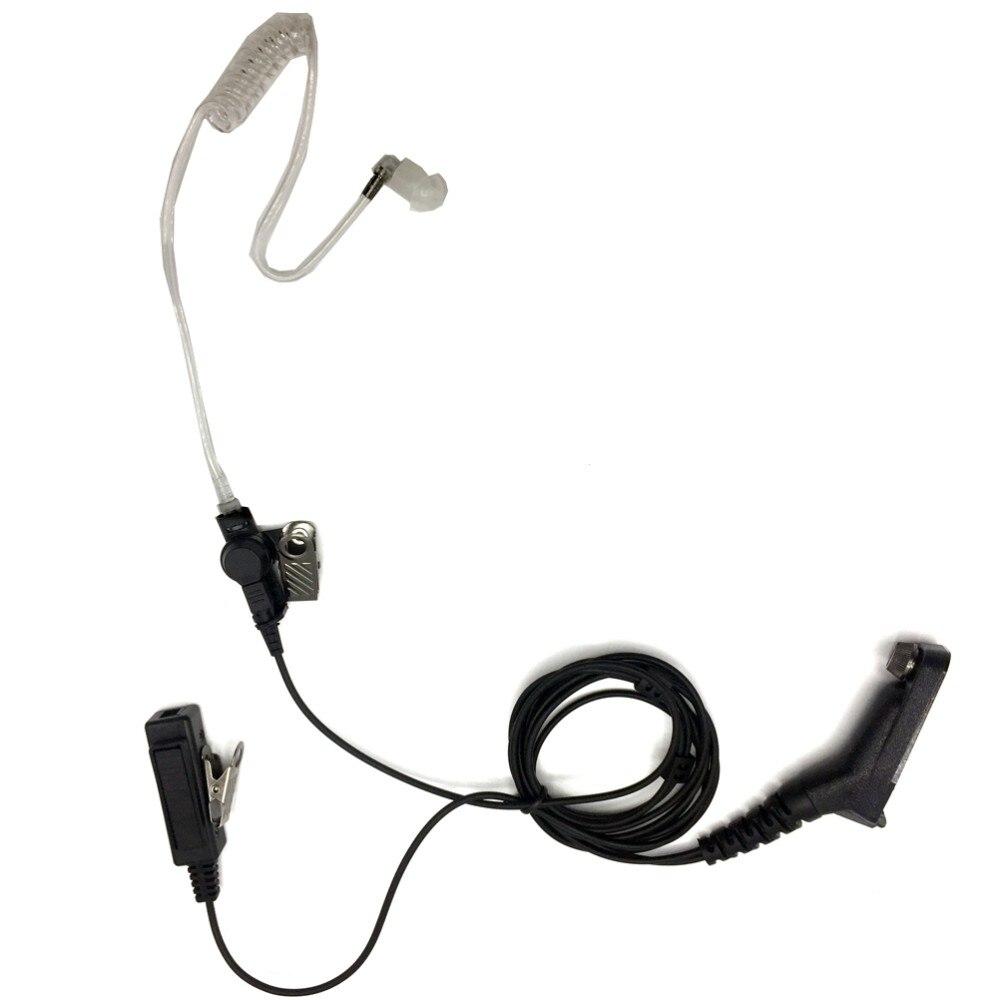 Fbi fone de ouvido microfone ptt covert acústica fone tubo para motorola walkie rádio cb para xpr7580 dp4601 dp4600 dp4800 dp4801