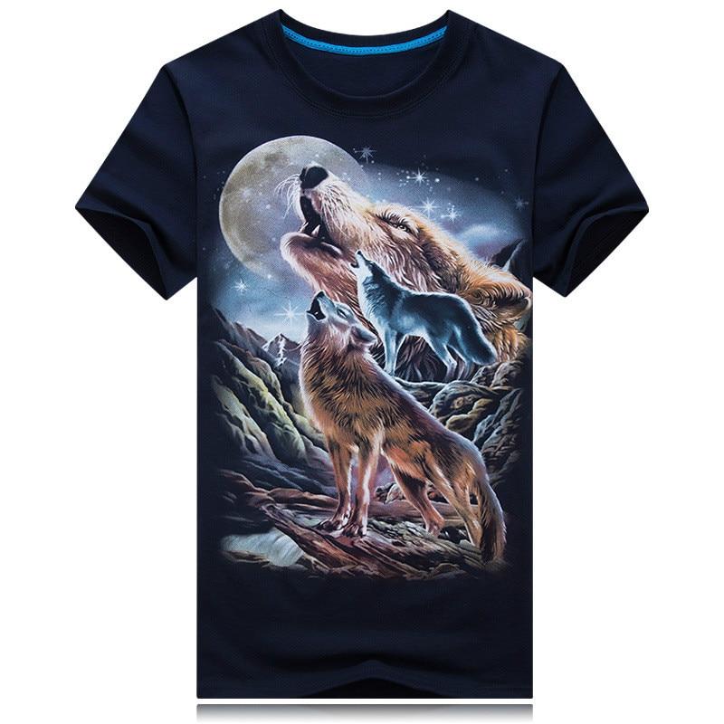 2020 nueva camisa de manga corta explosión dominante personalidad estéreo con montaña Lobo S-6XL tamaño envío gratis moda Cool