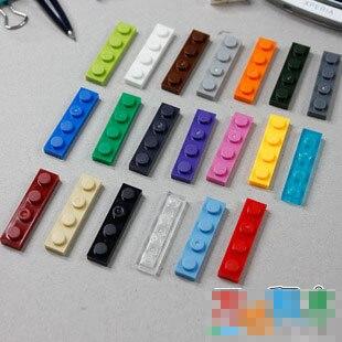 Piezas de ladrillos de elementos 3710 placa 1x4 pieza clásica juguete de bloques de construcción accesorio Bricklink 050