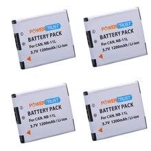 4Pcs 3.7V 1200mAh NB-11L NB 11L NB11L Battery Pack for Canon PowerShot Camera