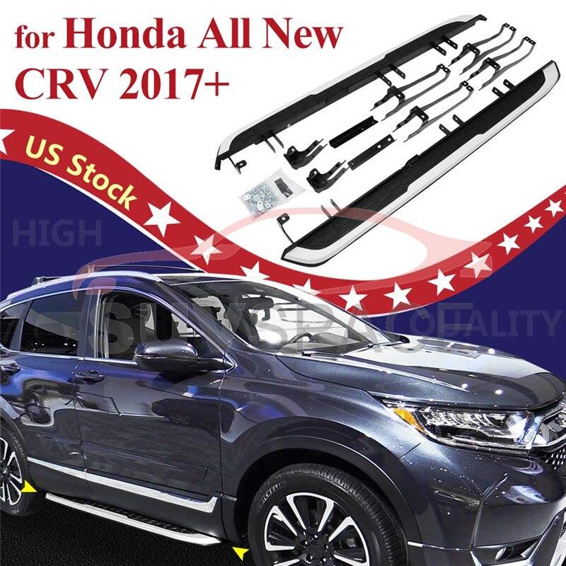 Escalón lateral apto para Honda CRV CR-V 2017 2018 2019 2020 tablero de carrera Nerf Bar sin perforación