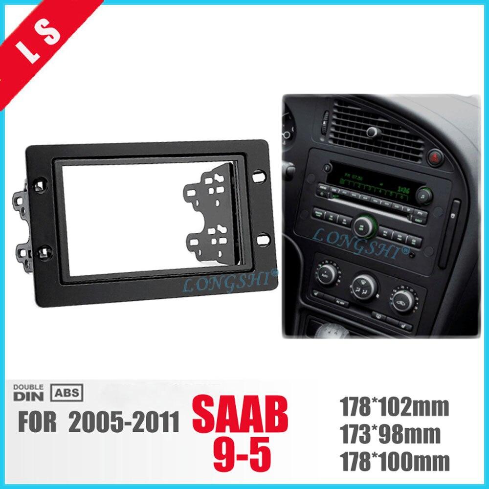 LONGSHI 2 דין מכונית שיפוץ מסגרת, פנל ה-DVD, דאש קיט, Fascia, מסגרת רדיו, אודיו מסגרת עבור סאאב 95 9-5 2005-2011,2DIN