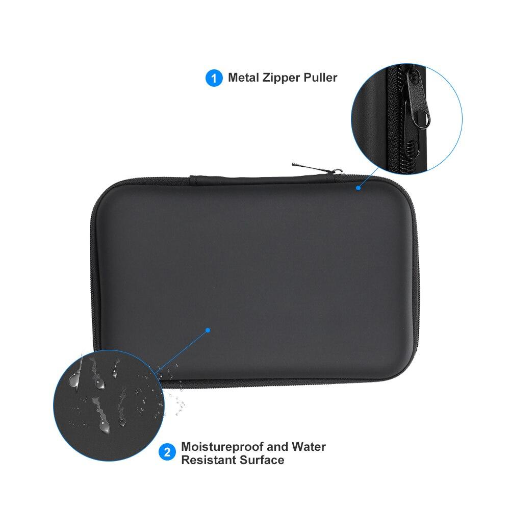 "Bolsa para disco duro HDD de 3,5 ""EVA, carcasa de disco duro a prueba de golpes, bolsa para disco duro HDD de 3,5 pulgadas, Estuche de transporte de disco duro externo, estuche/bolsa de viaje"