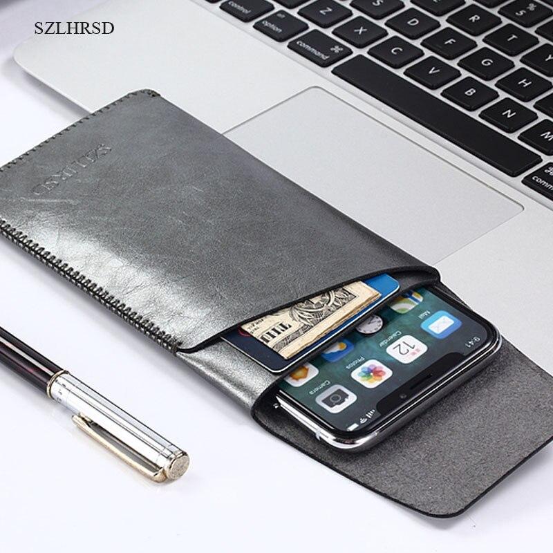 SZLHRSD para Oukitel K8000 manga Super delgada bolsa cubierta funda de microfibra para BlackBerry movimiento para HomTom S8