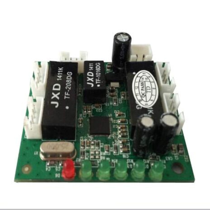 купить mini design ethernet switch circuit board for ethernet switch module 10/100mbps 5 port PCBA board в интернет-магазине